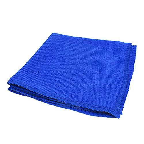 balikha Toalla de Limpieza de Coche Azul de 30 X 30 Cm, Microfibra, Sin Pelusa, Sin Rayas