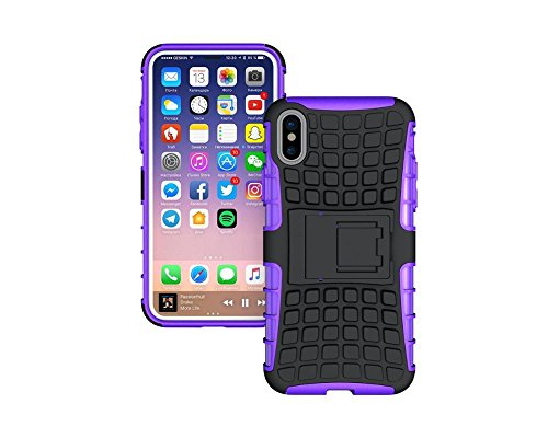 iPhone 8 Case, iPhone 8 Case by Cable and Case - [Heavy Duty] Tough Dual Layer 2 in 1 Rugged Rubber Hybrid Hard/Soft Impact Protective Cover [with Kickstand] Shipped from The U.S.A. - Green