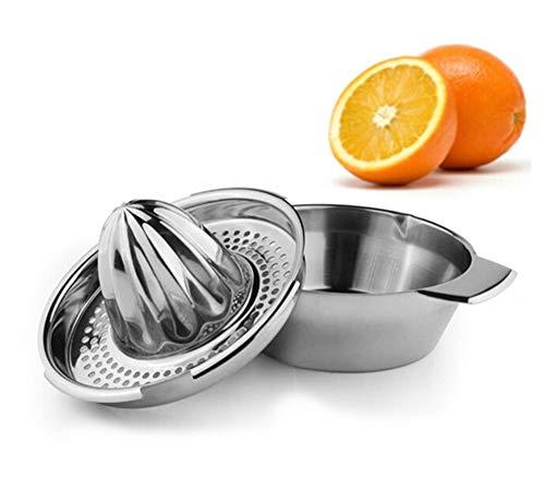ZXGQF Manuelle Saftpresse Edelstahl Zitronenpresse Zitruspresse Stahl Saft Orange Limone Zitronenpresse für Home Bar Küche