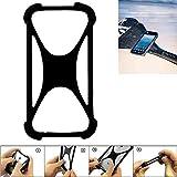 K-S-Trade® Handyhülle Für Caterpillar Cat S41 Schutz Hülle Silikon Bumper Cover Case Silikoncase TPU Softcase Schutzhülle Smartphone Stoßschutz, Schwarz (1x),