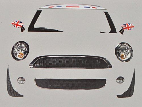 alles-meine.de GmbH XXL Wandtattoo / Sticker - 1,3 m Auto Mini schwarz Autos Fahrzeug Britain - Wandsticker Aufkleber Auto Fahrzeuge