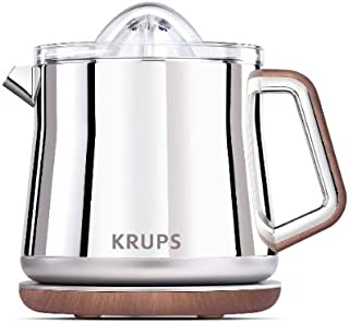 KRUPS ZX800 Silver Art Collection Citrus Press with Dual Cone Rotation (Stainless Steel)
