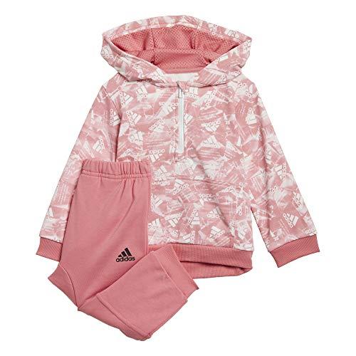 adidas I AOP Jog FT Chndal, Top:Hazy Rose/White Bottom:Hazy Rose S21, 18 Meses Unisex bebé