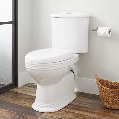 Signature Hardware 941039 Ebler 1.6/0.8 GPF Two Piece Elongated Toilet with Rear Outlet - Seat Included