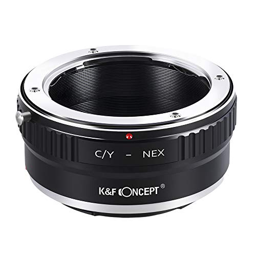 K&F Concept® マウントアダプター C/Y-NEX コンタックスヤシカC/Yマウントレンズ- SONY (α NEX) Eマウントカメラ装着用レンズアダプター eマウントアダプター