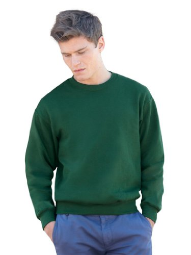 Fruit of the Loom - Set-In Sweatshirt - bottlegreen - Größe: L
