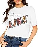 Photo de Foghat Women's Navel Sexy Comfort Short Sleeve T Shirt Crop Top T-Shirts à Manches Courtes(Large)