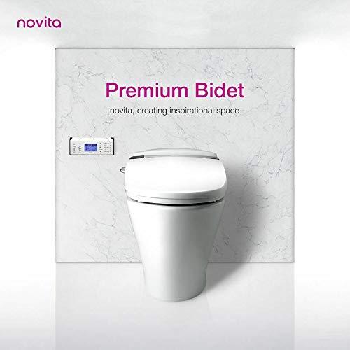 Novita BD-RA793 Toilettensitz, elektrisch, automatisch, Heizung, personalisierbar, mit Bewegungserkennung