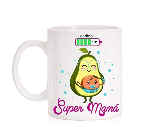 Taza Futura mamá. Loading super mamá. Regalo divertido para embarazadas o para recientemente madres. Mamás primerizas