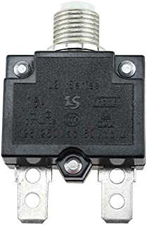 JesseBro76 5A/10A/15A/20A/30A Push Button Resettable Thermal Circuit Breaker Panel Mount Black