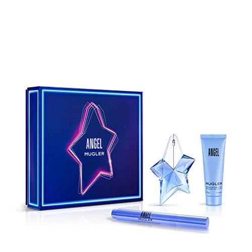 Mugler angel eau parfum recargable 25ml + locion corporal 50ml + eau parfum 10ml