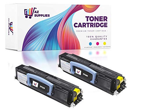 AZ Compatible Toner Cartridge Replacement for DELL 1720 (1720DN) - 2 Pack Black