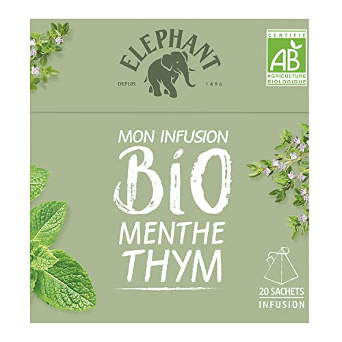 Elephant Infusion Menthe Thym 20 Sachets Pyramides