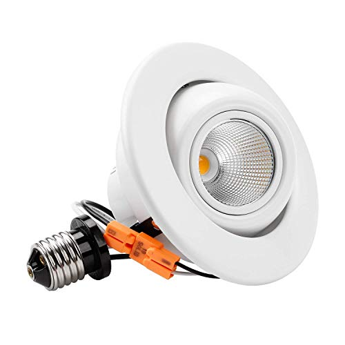 TORCHSTAR High CRI90+ 4 Inch Dimmable Gimbal Recessed LED Downlight, 10W (75W Equiv.), Energy Star Listed, 5000K Daylight, 800lm, Adjustable LED Retrofit Lighting Fixture, 5 Years Warranty