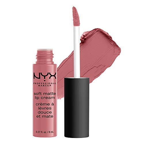 NYX Professional Makeup Rouge à Lèvres Soft Matte Lip Cream, Fini Mat Crémeux, Couleur Ultra-Pigmentée, Tenue Longue Durée, Teinte : Beijing