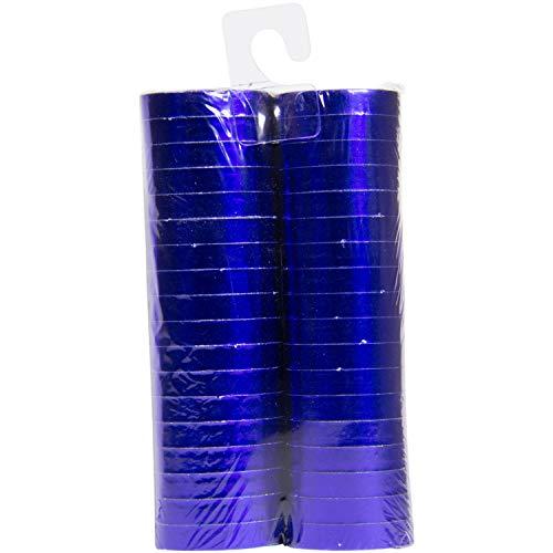 Luftschlangen Metallic Blau