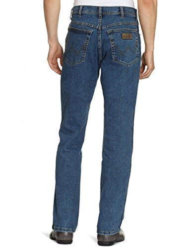 WRANGLER durevole Stretch Regular Fit Jeans Da Uomo-Nero
