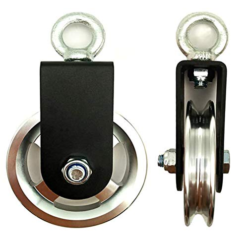 Polea de Cable, Bloque de Polea Giratoria de Única 90mm Rotación 360 Para Sistema de Polea de Gimnasio, Bloques de Elevación, Equipo de Gimnasio, Proyectos de Bricolaje para El Hogar