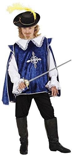 WIDMANN Desconocido Disfraz azul de mosquetero para niño