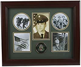 Allied Frame United States Army Medallion 5 Picture Collage Frame with Stars