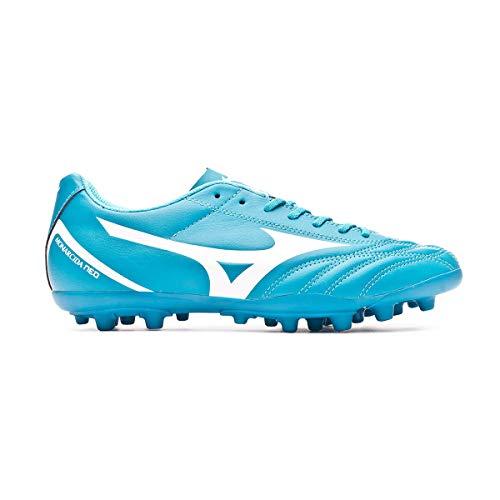Mizuno Monarcida Neo Select AG, Bota de fútbol, Blue Atoll-White