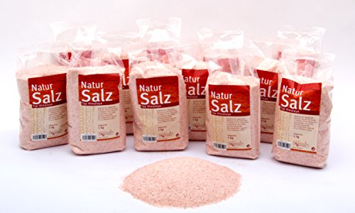 Steinsalz Salz Natursalz aus der Saltrange in Pakistan Bez. Typ * Himalaya * 16 x 1 kg Schlauchbeutel