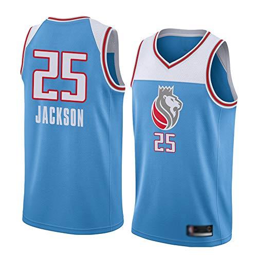 Wo nice Jerseys De Baloncesto para Hombres, Sacramento Kings # 25 Justin Jackson Uniformes De Baloncesto De La NBA Camiseta Sin Mangas Tops Casual Chalecos Deportivos De Secado Rápido,Light Blue