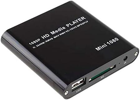 AGPtek Black Dallas Mall Special sale item Mini Full HD Media Player-M 1080P Digital Streaming