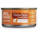 WholeHearted All Life Stages Canned Cat Food - Grain Free Chicken Recipe Flaked in Gravy, 2.8 OZ,...