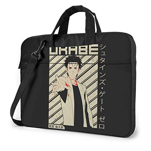 XCNGG Steins Gate Anime Laptop Hombro Messenger Bag Tablet Computadora Mochila de Almacenamiento Bolso 15.6 Pulgadas
