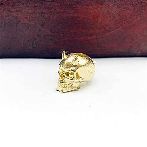 CHENSTAR Pur Cuivre Diable Squelette Couteau Perle Lanière Pendentif Vintage en Laiton Bricolage Bracelet Porte-Clés Accessoires Parapluie Corde Perle