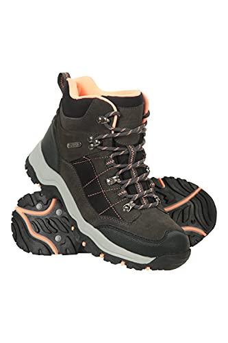 Mountain Warehouse Navigate Womens Waterproof Walking Boots - Suede & Mesh Upper, EVA Cushioned, Heel & Toe Bumpers - Best for Hiking, Trekking, Outdoors Grey Womens Shoe Size 7 UK