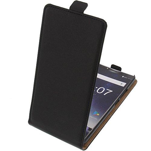 foto-kontor Tasche für Oukitel K6 Flipstyle Schutz Hülle Handytasche schwarz