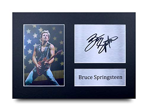 HWC Trading Bruce Springsteen A4 Sin Marco Regalo De Visualización De Fotos De Impresión De Imagen Impresa Autógrafo Firmado por Aficionados A La Música