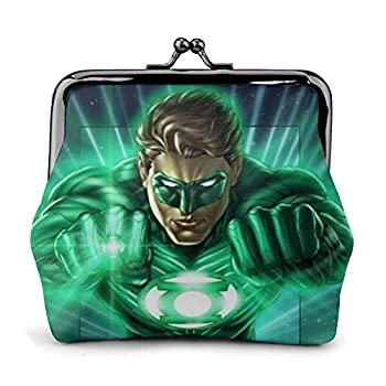 Fantasy Movie G-reen Lan-tern Coin Purse Tourist Coin Purse With Metal Clasp Fashion Luxury Leather Wallet Classic Exquisite Pouch bag Key Holder