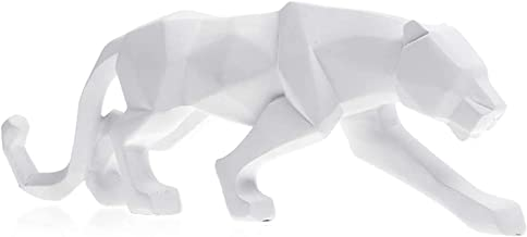 Yusea Modern Art Geometrische Panther Beeldje Hars Luipaard Sculptures voor Boekenkast Showcase Shop Home Office Desk Deco...