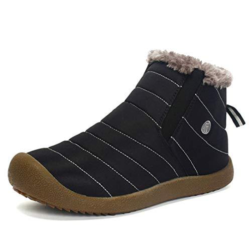 [EVIICC] スノーブーツ メンズ スノーシューズ レディース ブーツ キッズ ショート 防水 防滑 軽量 軽い 暖かい裏起毛 防寒 保暖 冬用 カジュアル 綿靴 雪靴