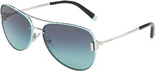 Tiffany TF-3066-60019S-62 Women's Metal Sunglasses, Light Blue/Silver - 62 mm