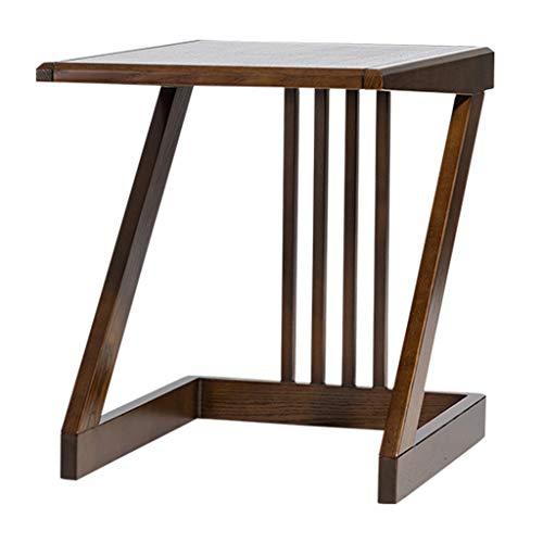 Tables basses Petite en Forme de Z Table en Bois Massif Petite personnalité créatrice Tout en Bois de frêne, Huile de Cire de Bois respectueuse de l'env