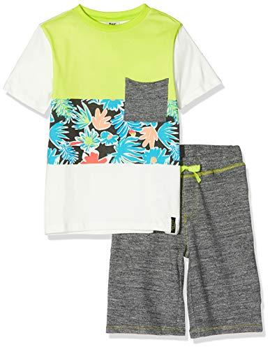 T-Shirt Jersey E Bermuda Felpa Bambino Bianca Miami Splash