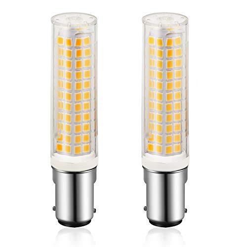 CPROSP 2-delige gloeilampen B15D LED dimbaar super helder warm wit voor naaimachine lampen ventilator 200-240V