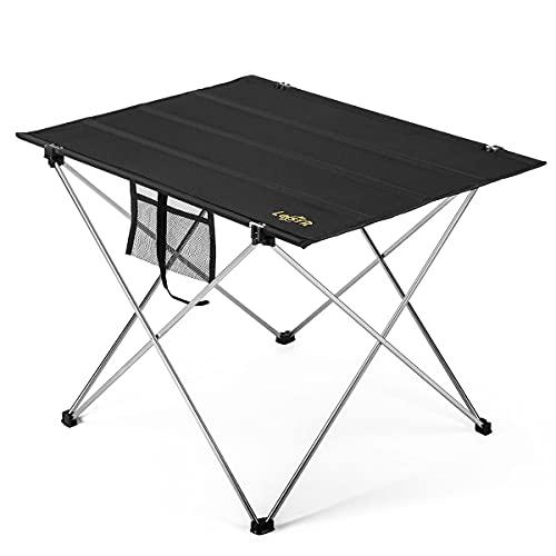 Lesfit Campingtisch Falttisch Klappbar Leicht, Faltbare Outdoor Camping Tisch, 75 x 54 x 52 cm