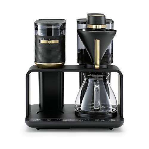 Melitta EPOS Pour Over Kaffeemaschine mit Mahlwerk: Einzigartiges Brühsystem & innovatives Design, Schwarz-Gold
