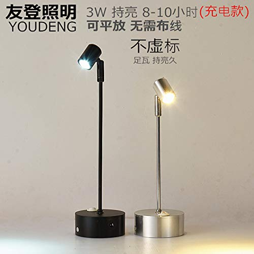 Led/Wireless / Rechargeable /1W/3W/ Small Spotlights/Glass Counters/Spotlights / Jewelry/Showcase Lights/Display / Stand Pole/Exhibition Lights,Silver 435Mm 1W