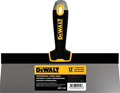 DEWALT 12' Taping Knife | Stainless Steel w/Soft Grip Handle | DXTT-2-137