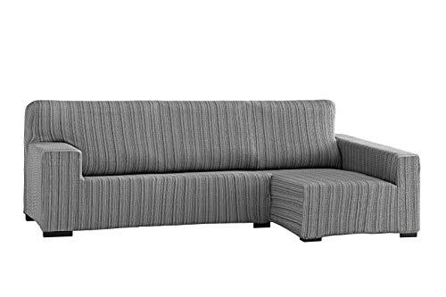 Martina Home Mejico Funda chaise longue, Brazo derecho, Gris, Tamaño desde 240 a 280 cm