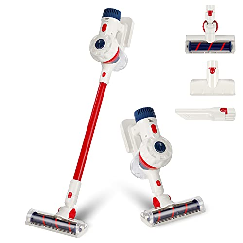 SUPER JOY Kids Vacuum, Toy Vacuum Cleaner for Toddler with Lights & Sounds,Cord-Free Pretend Play Housekeeping Vacuum Toys with Working Suction, Great Gifts for Toddlers, Boys and Girls, Ages 3+