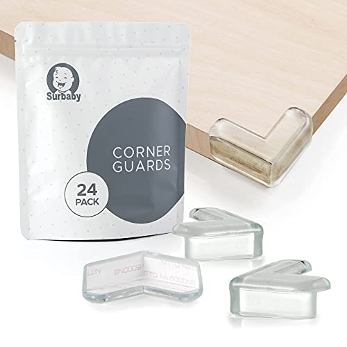 SurBaby | 24 Pack L-Shaped | Clear Corner Protector