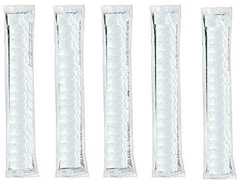 CoolStick Wassereis in Tüten 200 Stk FARBLOS - je 50ml, VEGAN geeignet, Mix Stangeneis zum einfrieren, Eis Sticks in 5 Geschmacksrichtungen, z.b. Cola, Kirsche, Waldmeister