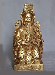 Wedding Decoration Chinese Taoism Myth Brass Supreme Deity Taoism Sovereign Jade Emperor God Statue